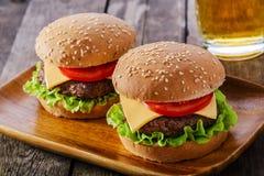 Mini hamburger Images libres de droits