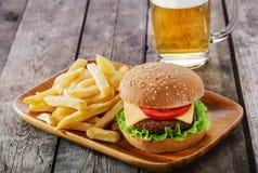 Mini hamburger Stock Image