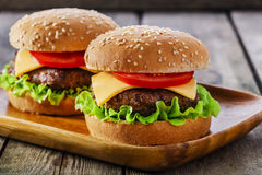 Mini hamburger Stock Photography