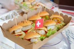 Mini hamburger Royalty Free Stock Image