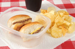 Mini hamburgers Images stock