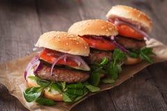 Mini Hamburgers Imágenes de archivo libres de regalías