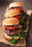 Mini Hamburgers Photos stock