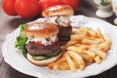 Mini Hamburgers Fotografia Stock Libera da Diritti
