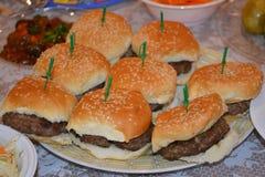 Mini Hamburgers immagini stock libere da diritti