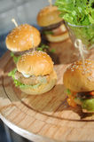 Mini-hamburgers Stock Images