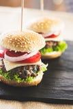 Mini hamburgery obraz stock
