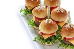 Mini hamburgueres Imagens de Stock Royalty Free