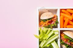 Mini hamburgueres deliciosos Foto de Stock Royalty Free