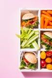 Mini hamburgueres deliciosos Fotos de Stock Royalty Free