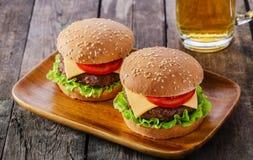 Mini hamburguesa Fotografía de archivo