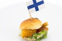 Mini hamburguesa imagen de archivo libre de regalías