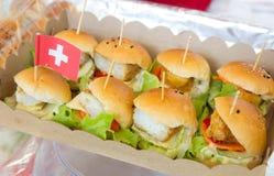Mini hamburguesa foto de archivo libre de regalías