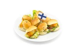 Mini hamburguesa imagenes de archivo