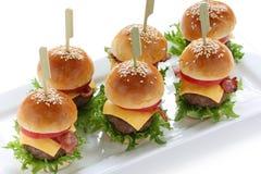Mini hamburguesas Fotografía de archivo libre de regalías