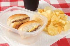 Mini hamburguesas Imagenes de archivo
