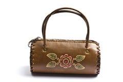 Mini handbag isolated on white Royalty Free Stock Photos