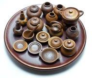 Mini handmade thai ceramic clay pot Royalty Free Stock Photo