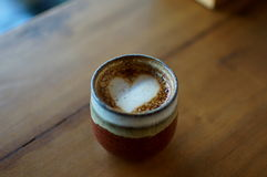 Mini heart. In beautyful cup stock image