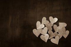 Mini hearts monotone Stock Image