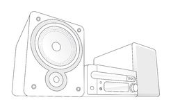 Mini Hifi vector illustration Stock Image