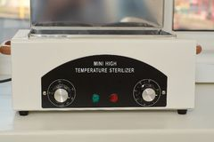Mini high temperature sterelizer. Medical equipment healthcare royalty free stock photography