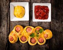Mini Hotdogs Stockbilder
