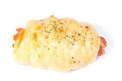 Mini- hotdogs som slås in i bröd Arkivfoto
