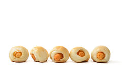 Mini hotdogs Royalty Free Stock Photography