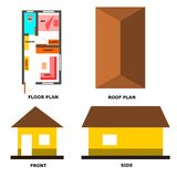 Mini house set 1 illustration Stock Images
