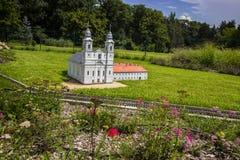 Mini Hungary, église de dévotion et monastère, ³ de CsÃksomlyà photos stock