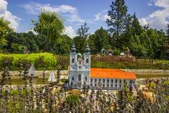 Mini Hungary abbotskloster av Tihany Arkivbild