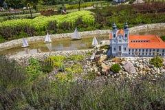 Mini Hungary abbotskloster av Tihany Arkivfoton