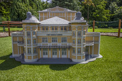 Mini Hungary, Csiky Gergely theatre of Kaposvár. Miniatures at the park Mini-hungary - reproductions of monuments in the Historical Hungary Szarvas, Hungary royalty free stock images