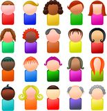 Mini Icon People Imagem de Stock Royalty Free