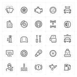Mini Icon a placé - icône de garage et de pièce d'auto Photos stock