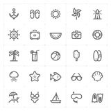 Mini Icon set – Beach icon vector illustration Royalty Free Stock Image