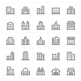 Mini Icon set – Building icon vector illustration Royalty Free Stock Photography