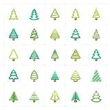 Mini Icon set – Christmas tree color icon vector illustration Stock Photography