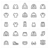 Mini Icon set – Clothing Man icon vector illustration bold line style. On white background royalty free illustration