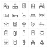 Mini Icon set – Furniture icon vector illustration Royalty Free Stock Image