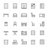 Mini Icon set – Furniture icon vector illustration Stock Image