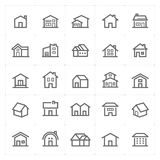 Mini Icon set – Home icon vector illustration Stock Image