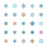Mini Icon set – snowflake color icon vector illustration Royalty Free Stock Photography