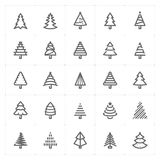 Mini Icon set –Christmas tree icon vector illustration. Design for Christmas and new year celebration Stock Photography