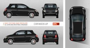 Mini illustration noire de vecteur de voiture Photo stock