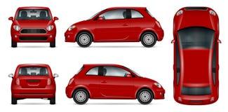 Mini illustration rouge de vecteur de voiture Photo stock
