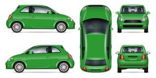 Mini illustration verte de vecteur de voiture Photographie stock
