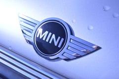 Mini insignia de BMW en el coche imágenes de archivo libres de regalías