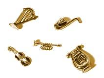 Mini instrumentos musicais Fotografia de Stock Royalty Free